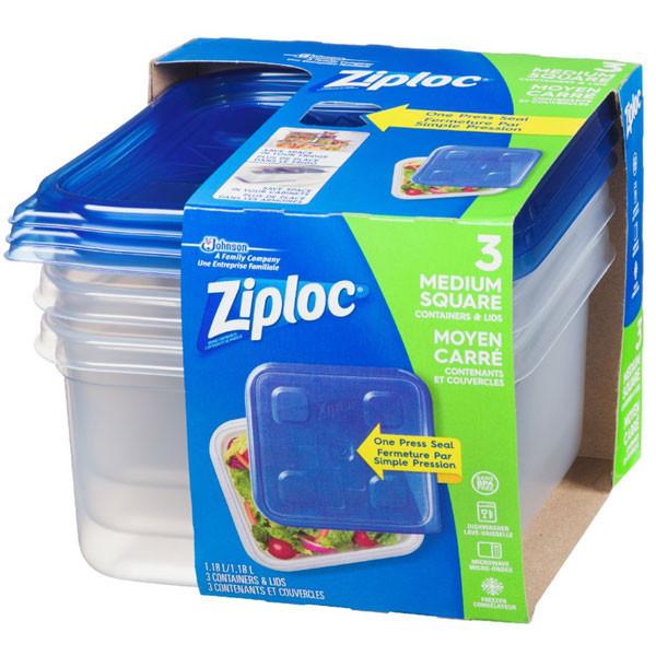Ziploccontainer, medium square