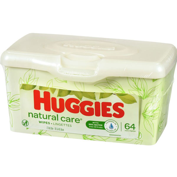 Huggieshuggies natural care unscented baby wipes, sensitive, 1 refillable pop-up tub (64 total wipes