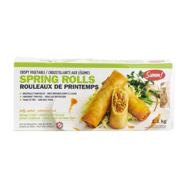 Summ vegetable springs rolls