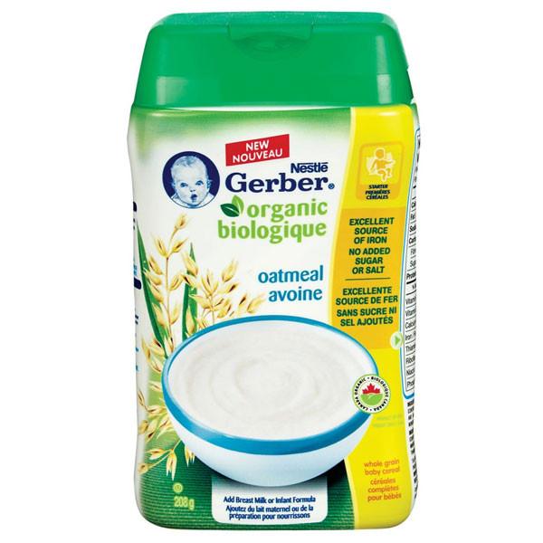 Nestleorganic oatml baby cerl