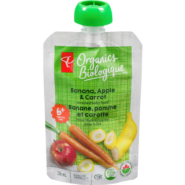 Pc organicsbanana, apple & carrot1