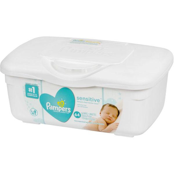 Pampersbaby wipes sensitive perfume free tub 64 coun