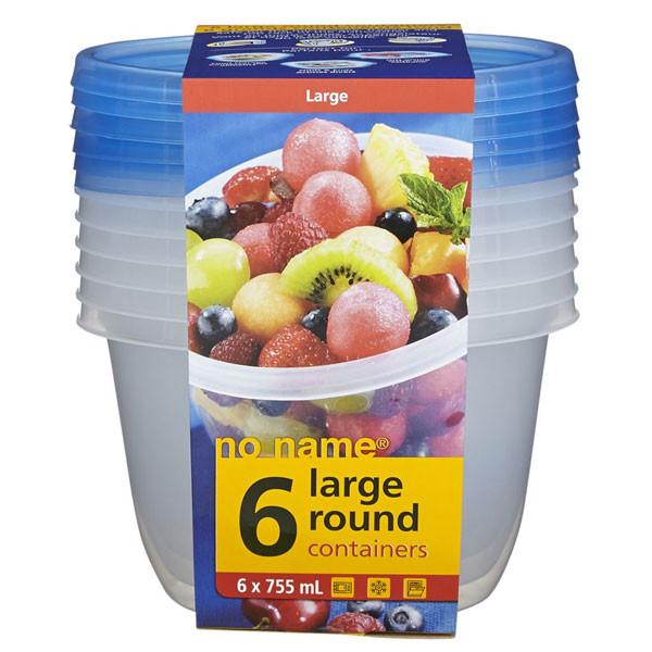 No nameround container 745ml