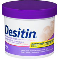 Desitindiaper rash crm for baby with zinc oxide, maximum strength