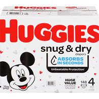 Huggiessnug & dry diapers, size 4, 148 ct